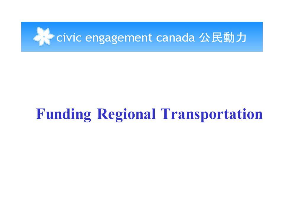 Funding Regional Transportation
