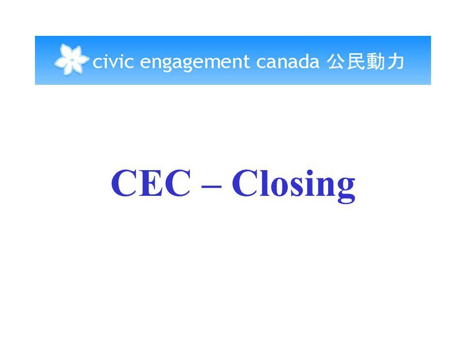 CEC – Closing