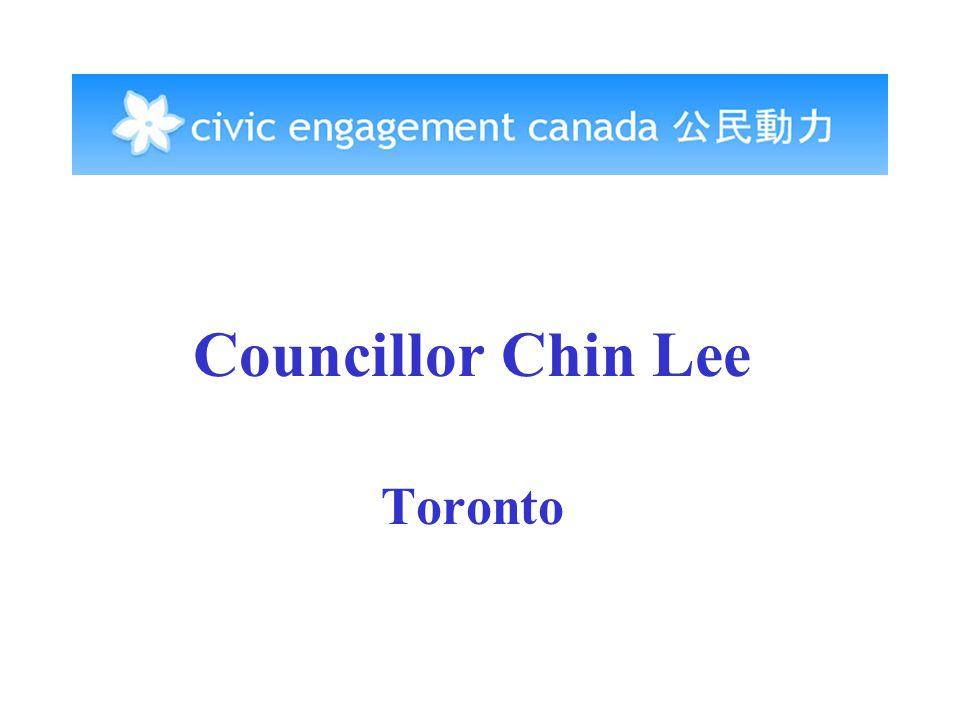Councillor Chin Lee Toronto