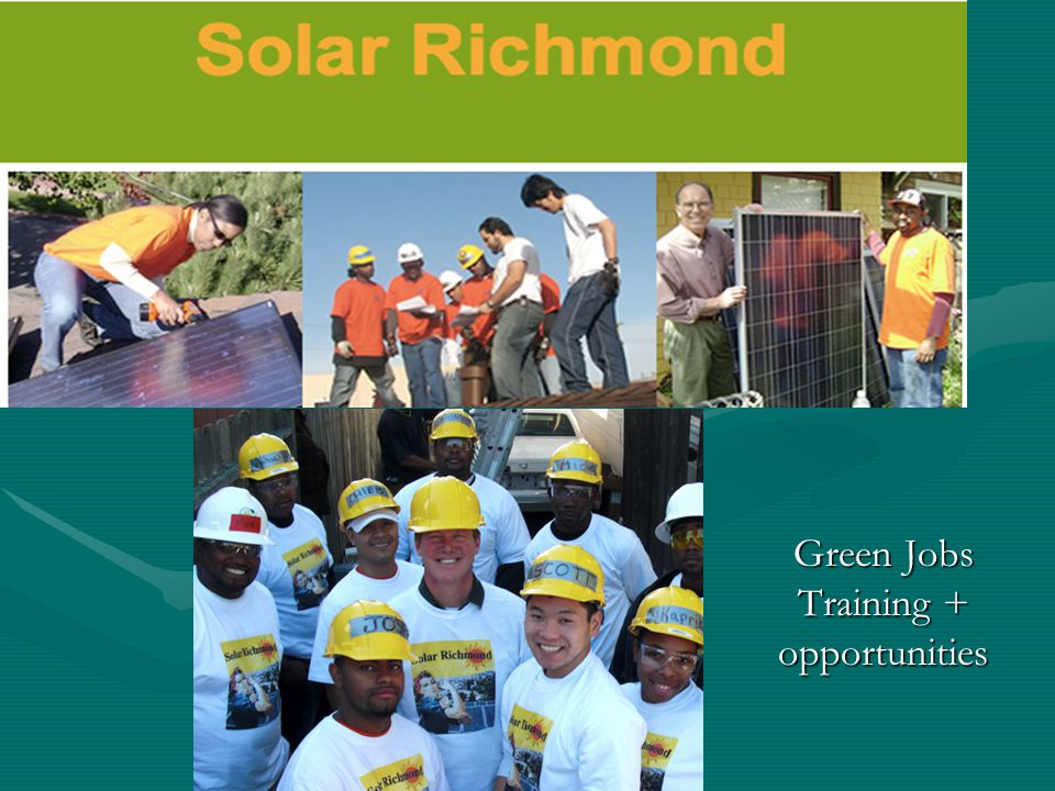 Green Jobs Training + opportunities