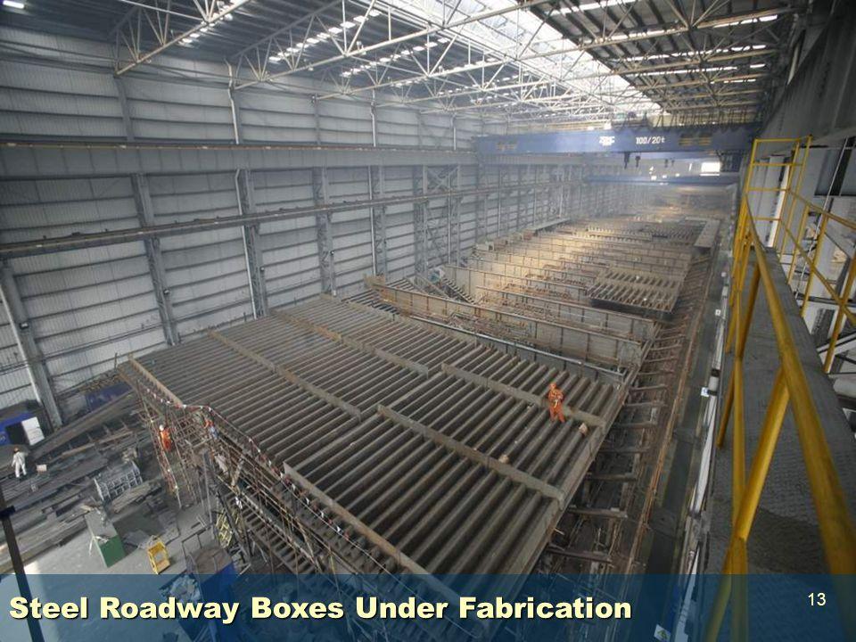 Steel Roadway Decks Steel Roadway Boxes Under Fabrication 13