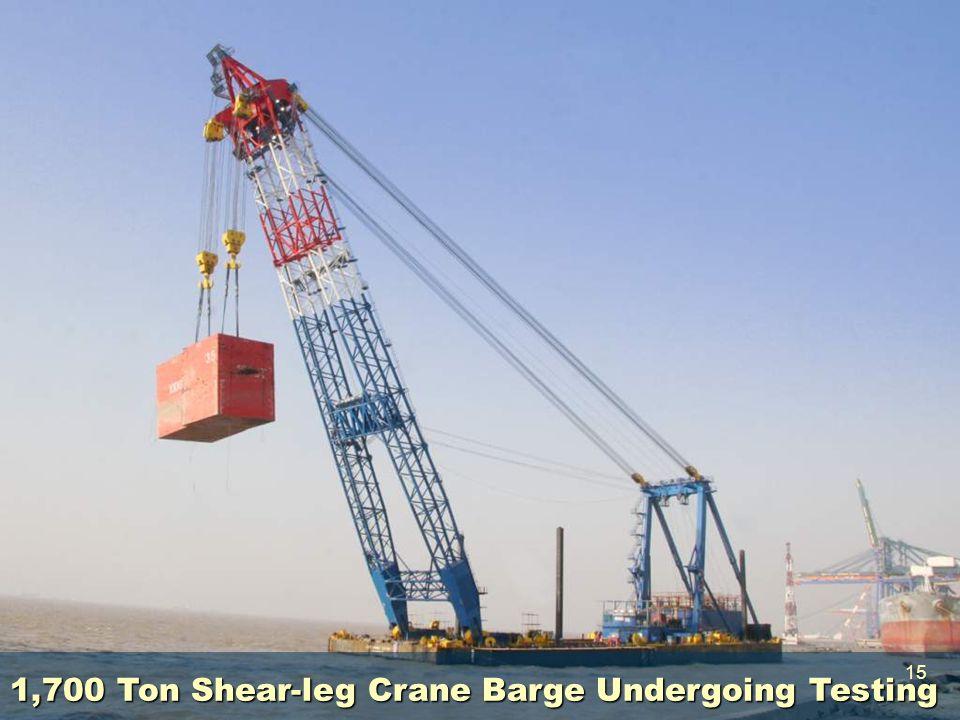 1,700 Ton Shear-leg Crane Barge Undergoing Testing 15