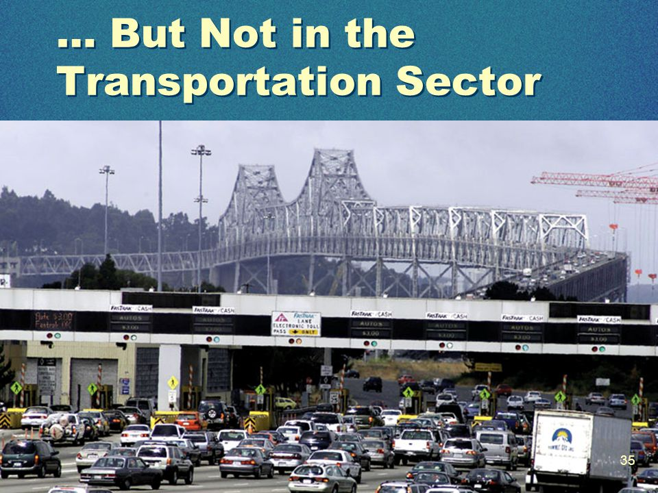 … But Not in the Transportation Sector 35