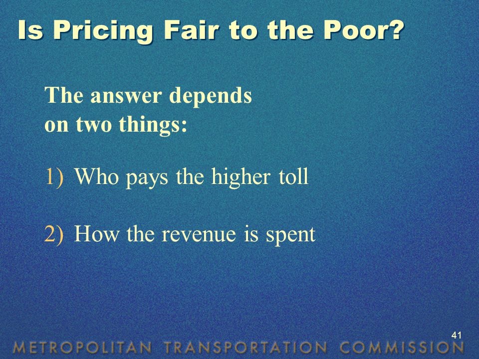 Is Pricing Fair to the Poor.