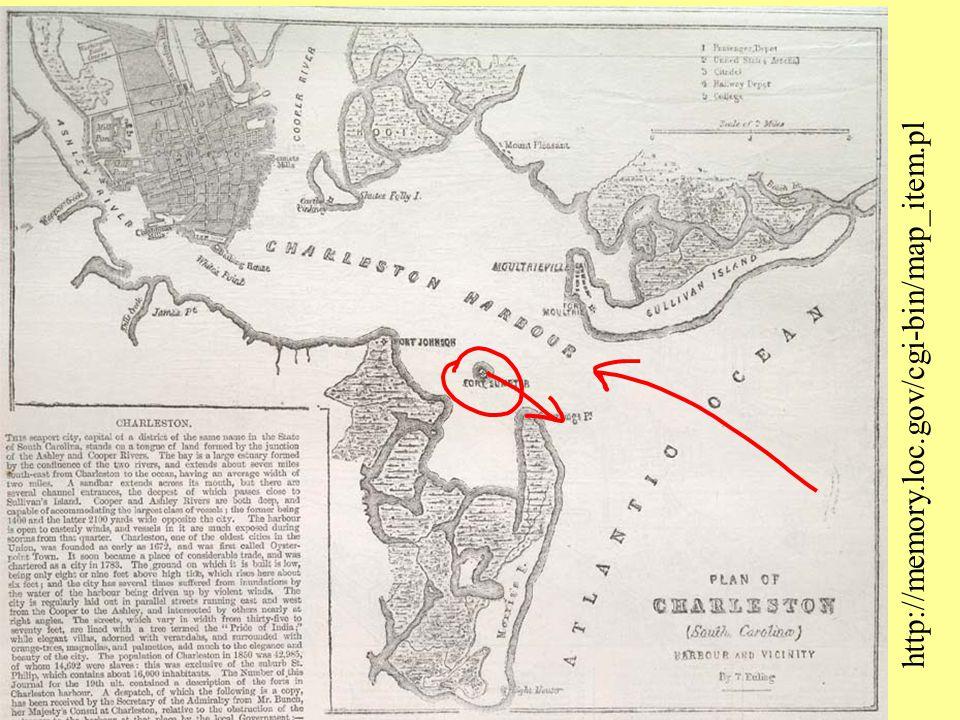 http://memory.loc.gov/cgi-bin/map_item.pl Charleston Harbor S.C.. Bombardment of Fort Sumter.
