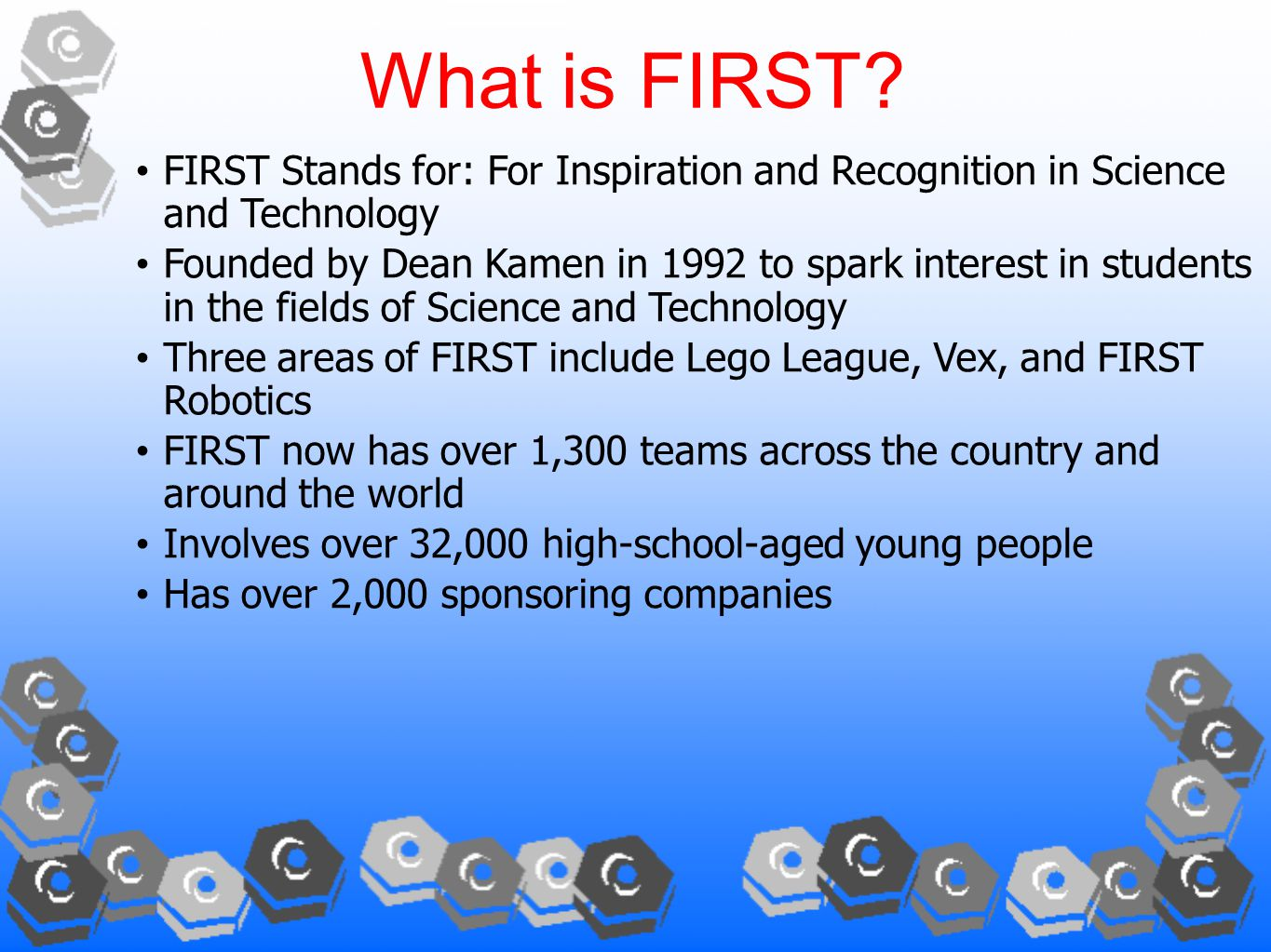 What is FIRST.