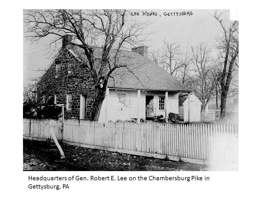 Headquarters of Gen. Robert E. Lee on the Chambersburg Pike in Gettysburg, PA