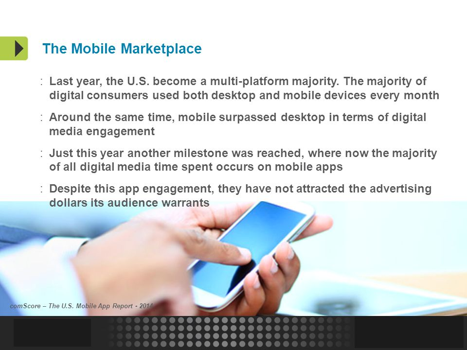 Confidential and Proprietary | 6 The Mobile Marketplace :Last year, the U.S.