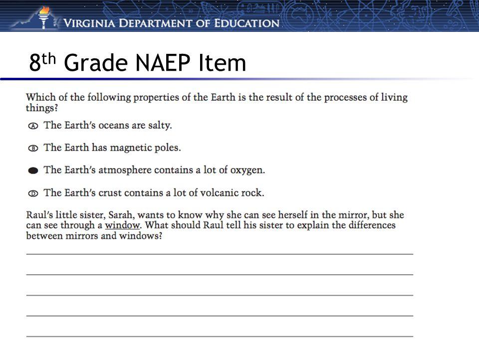 8 th Grade NAEP Item
