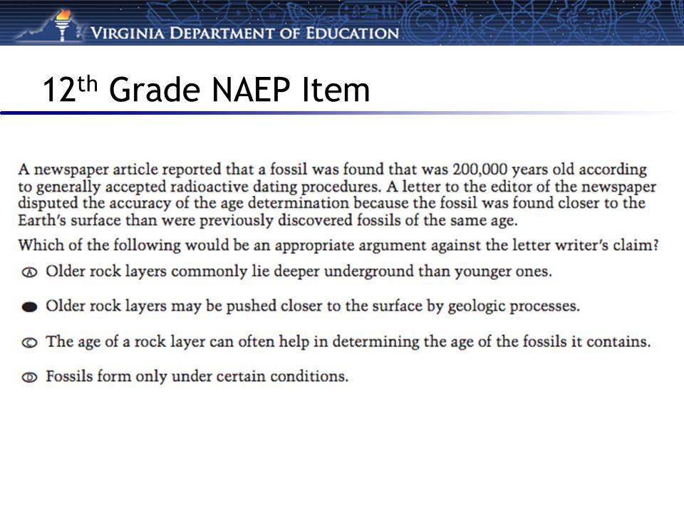 12 th Grade NAEP Item