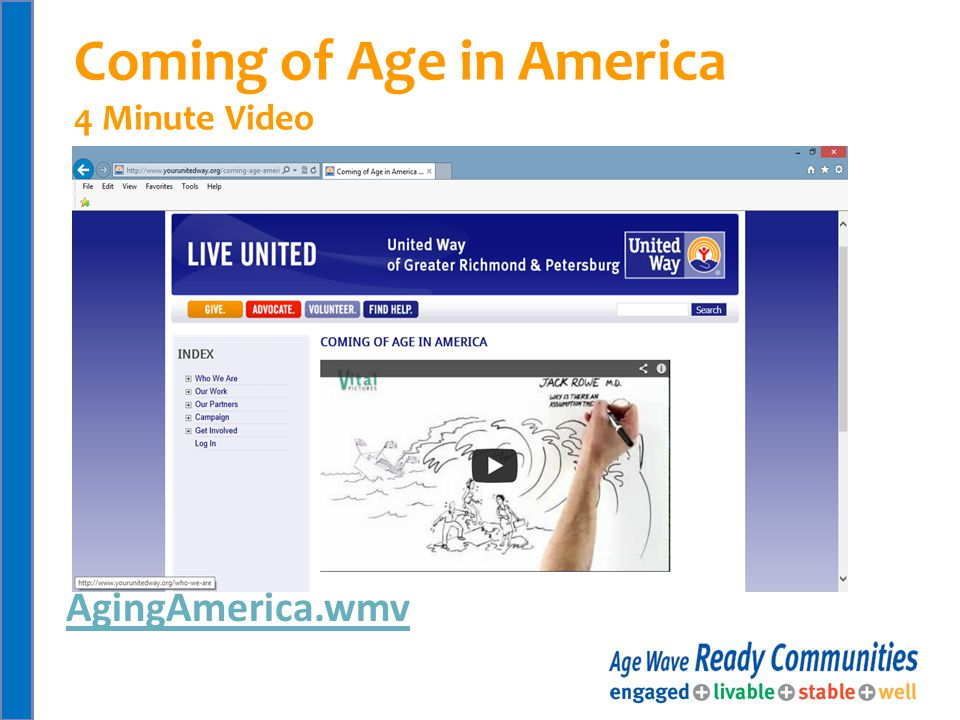 AgingAmerica.wmv Coming of Age in America 4 Minute Video