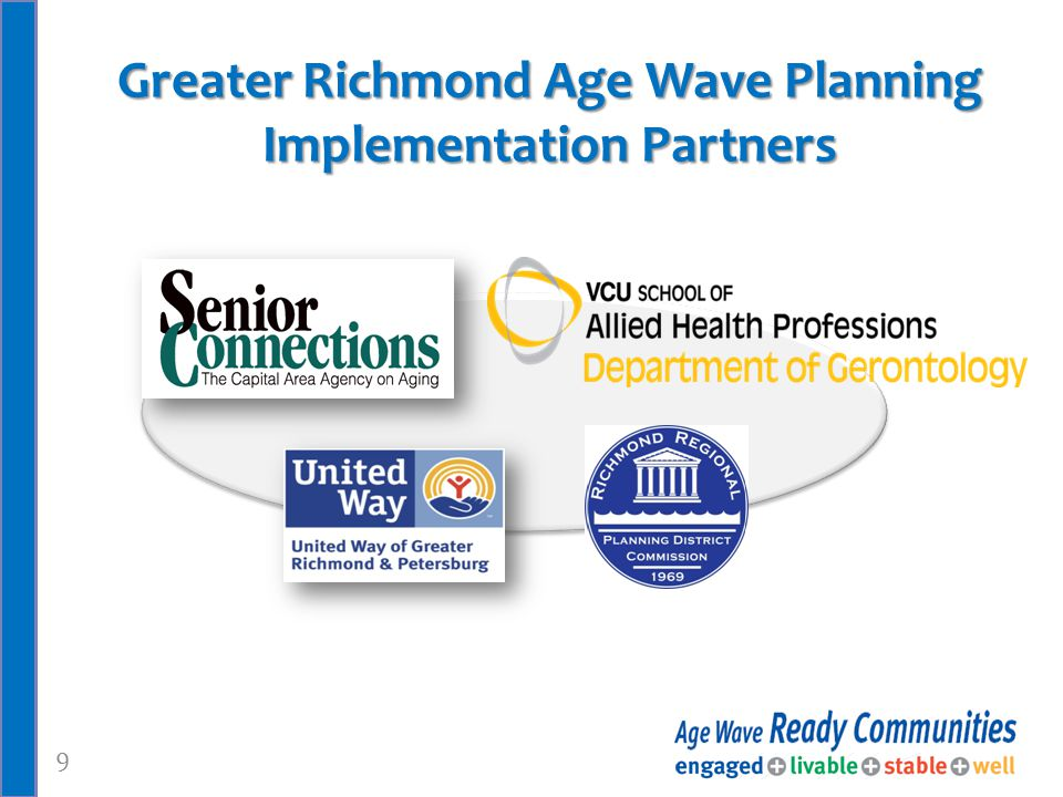 9 Greater Richmond Age Wave Planning Implementation Partners