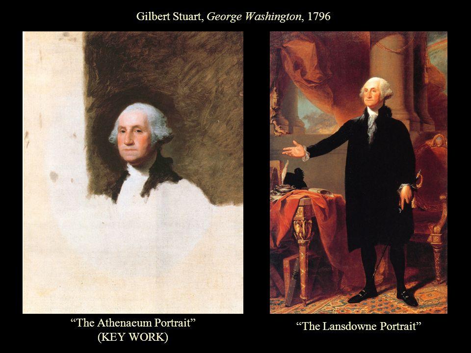 Gilbert Stuart, George Washington, 1796 The Athenaeum Portrait (KEY WORK) The Lansdowne Portrait