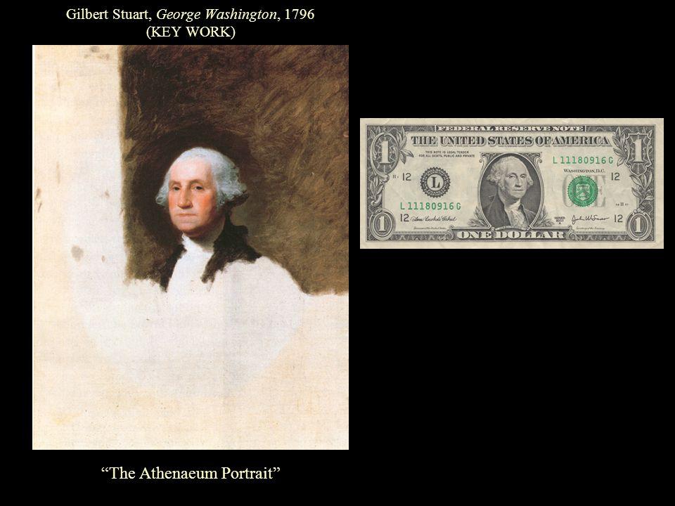 Gilbert Stuart, George Washington, 1796 (KEY WORK) The Athenaeum Portrait