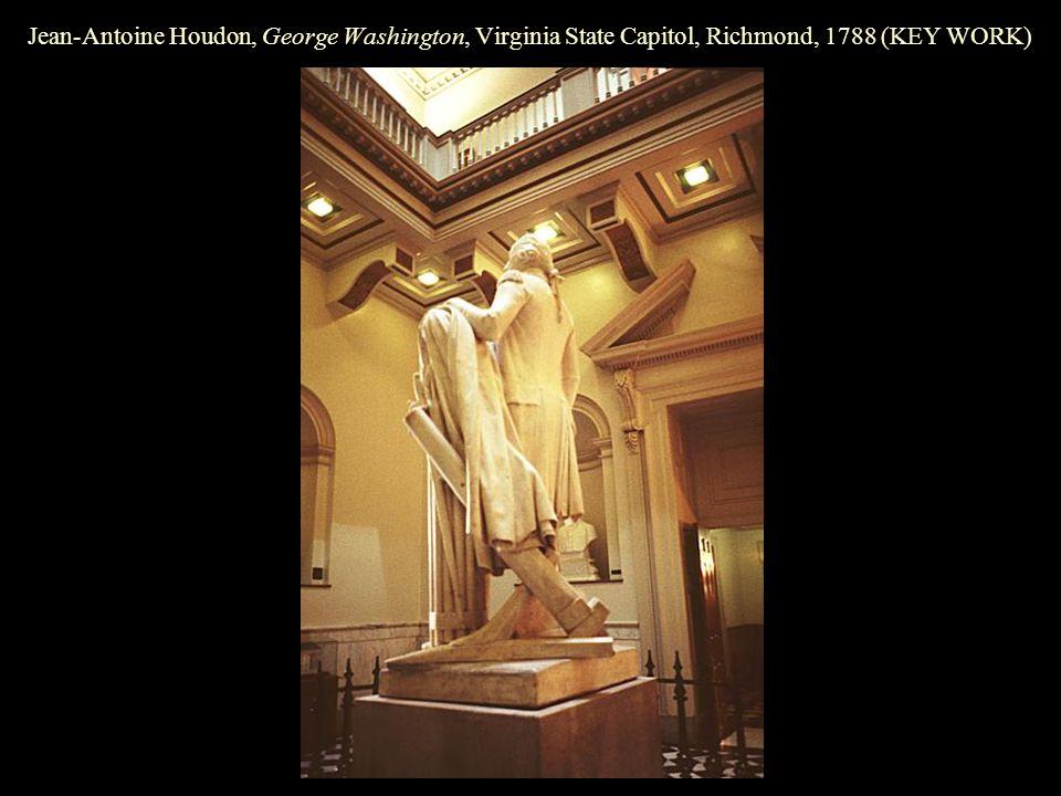 Jean-Antoine Houdon, George Washington, Virginia State Capitol, Richmond, 1788 (KEY WORK)