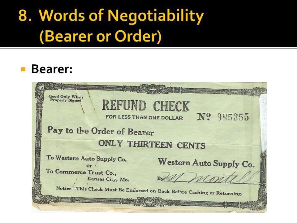  Bearer: