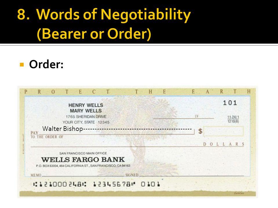  Order: Walter Bishop-----------------------------------------------