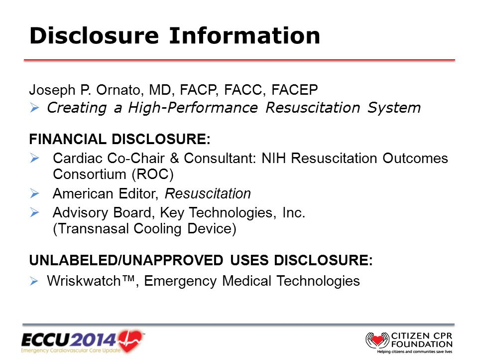 Disclosure Information Joseph P.