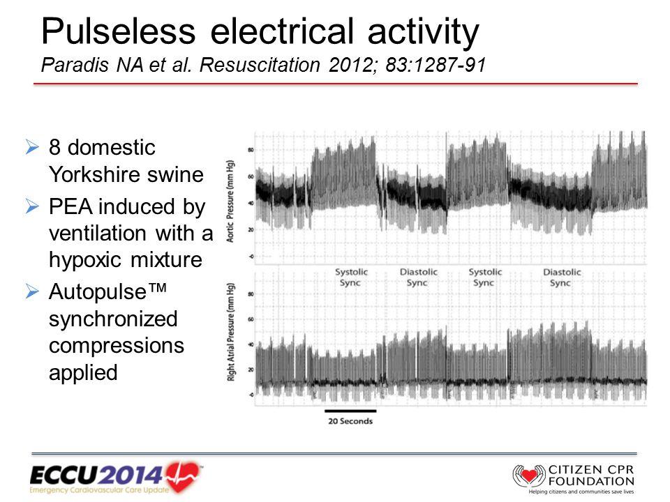 Pulseless electrical activity Paradis NA et al.