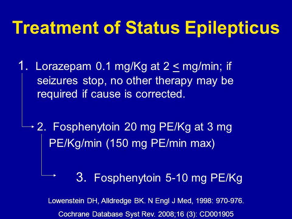 Treatment of Status Epilepticus 1.