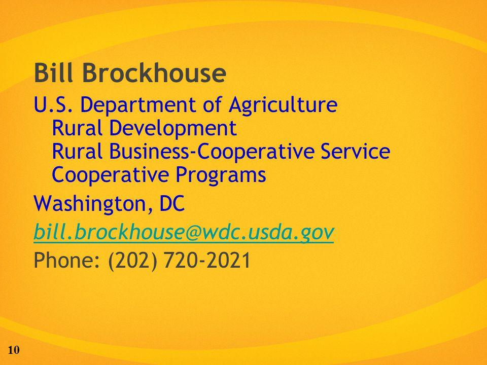 10 Bill Brockhouse U.S.