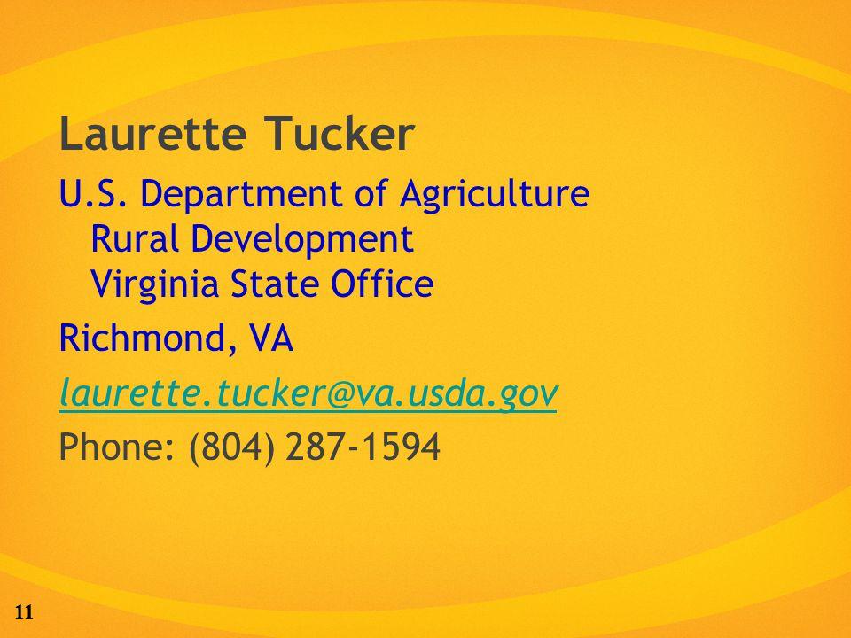 11 Laurette Tucker U.S.