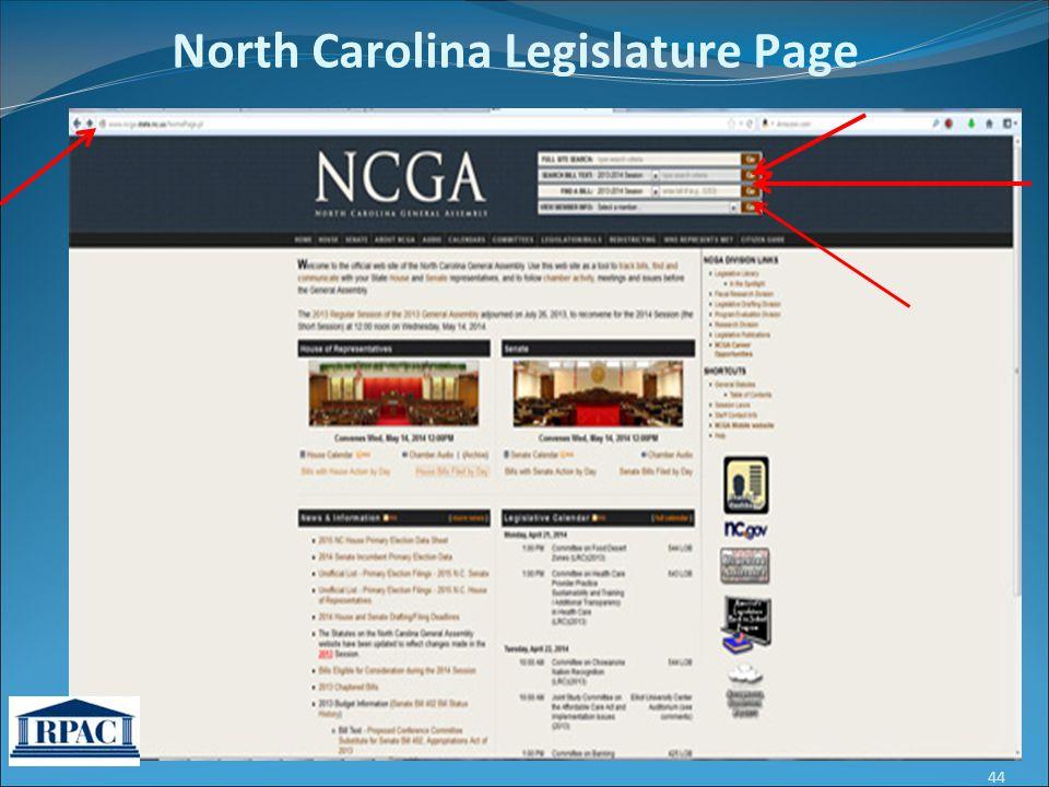 North Carolina Legislature Page 44