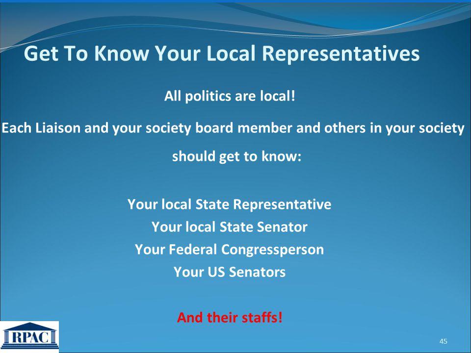 All politics are local.