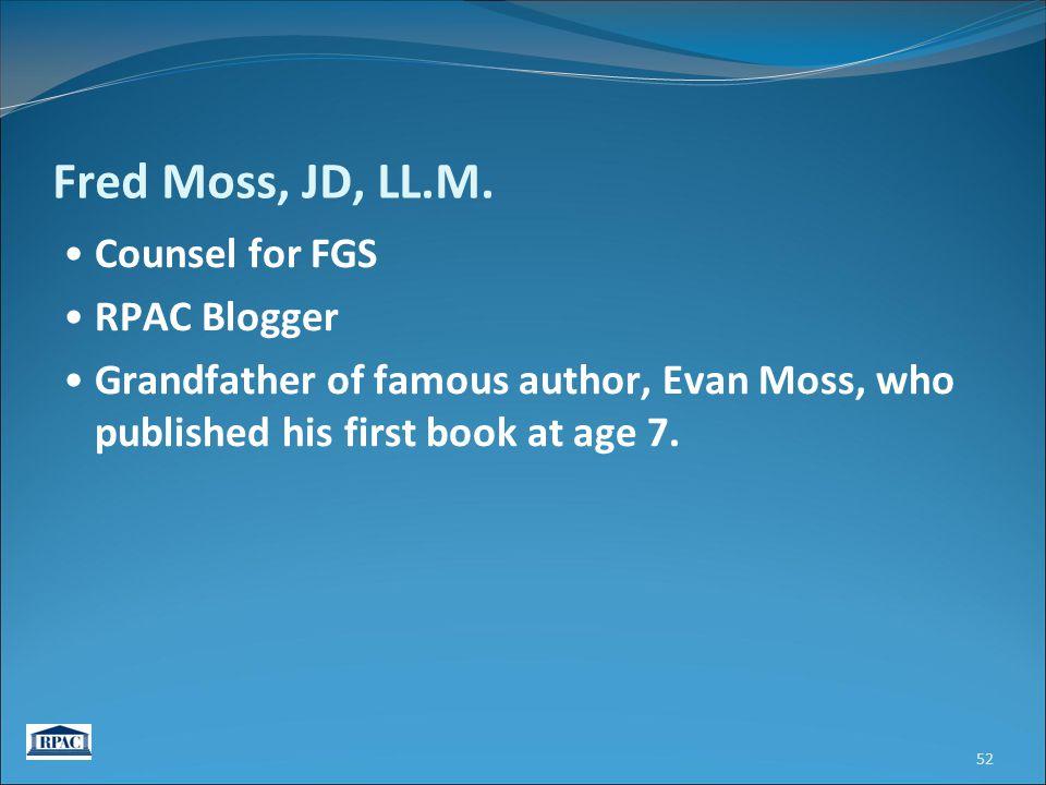 Fred Moss, JD, LL.M.