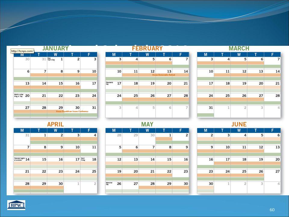 60 Congressional Schedule 2014