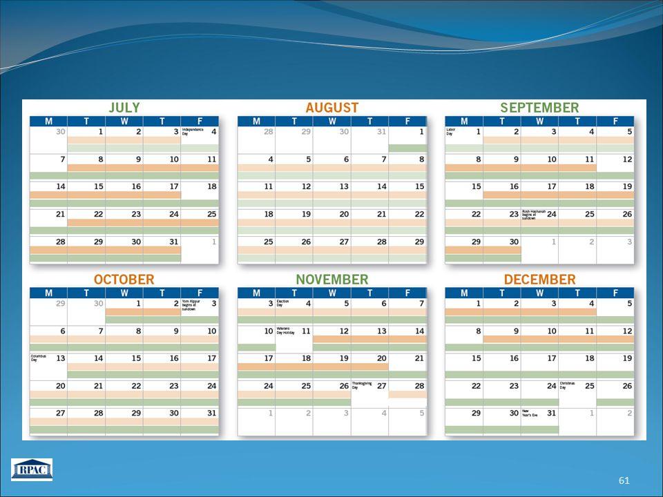 61 Congressional Schedule 2014