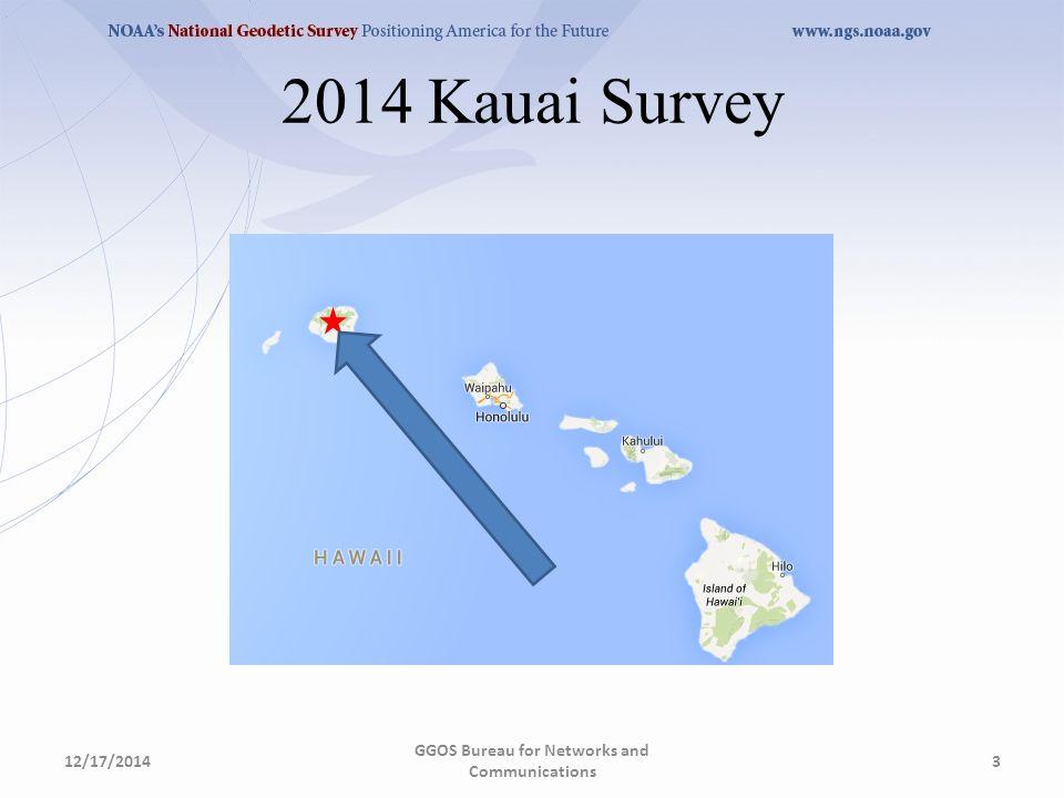 2014 Kauai Survey 12/17/2014 GGOS Bureau for Networks and Communications 3