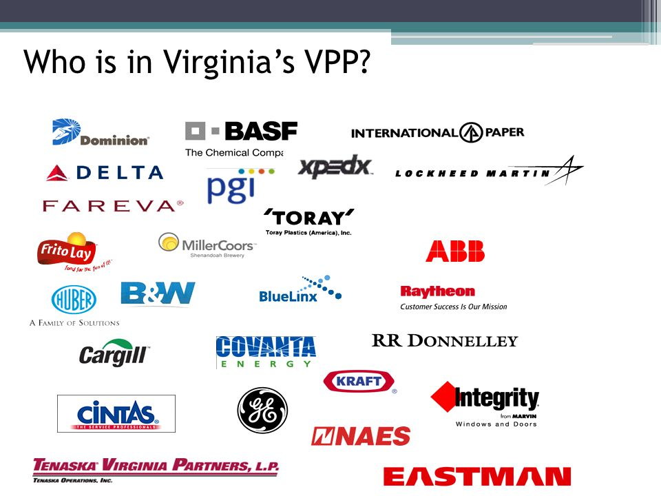 Who is in Virginia's VPP?