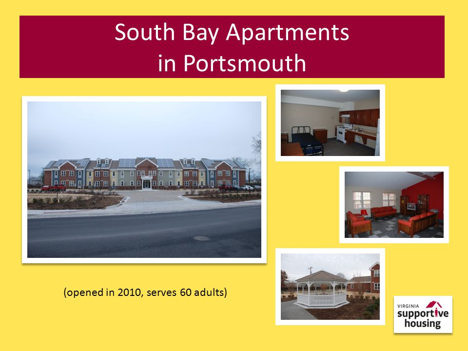 South Bay Apartments in Portsmouth (opened in 2010, serves 60 adults)