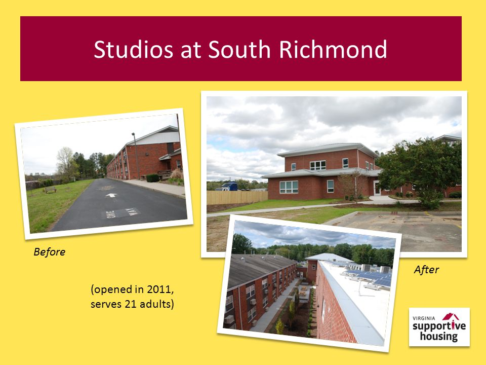 Studios at South Richmond Before After (opened in 2011, serves 21 adults)