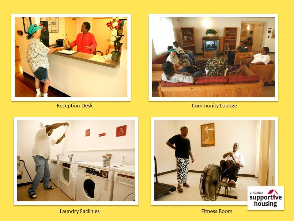 Reception DeskCommunity Lounge Laundry FacilitiesFitness Room