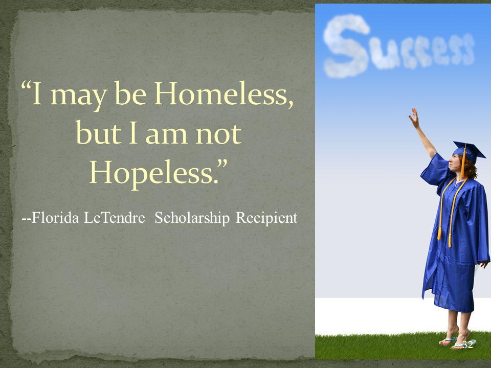 --Florida LeTendre Scholarship Recipient 32