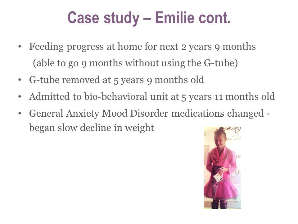 Case study – Emilie cont.