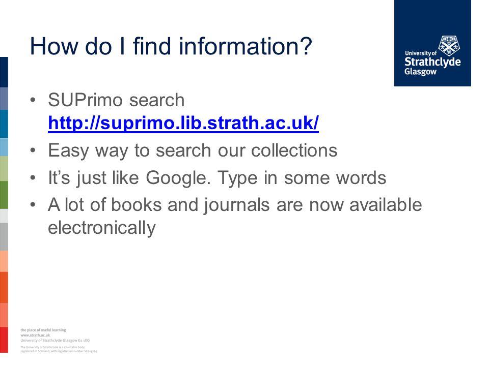 How do I find information.