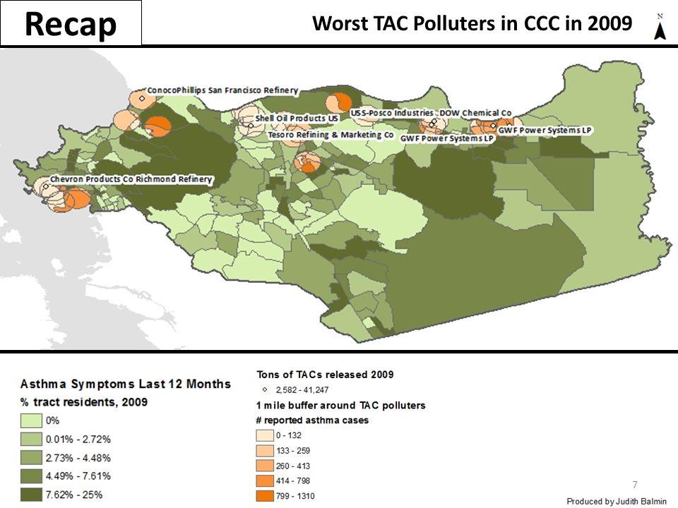 Recap Worst TAC Polluters in CCC in 2009 7