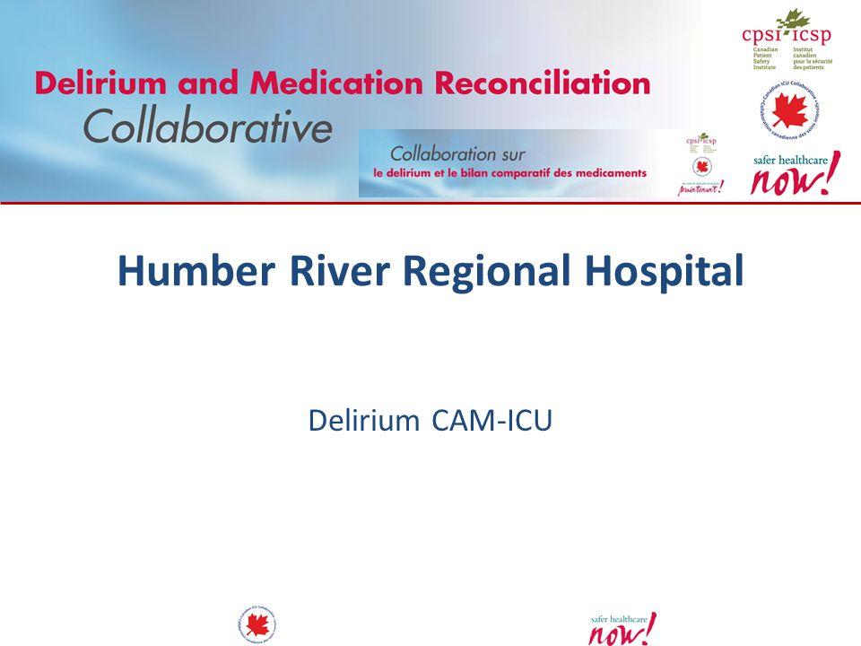 Humber River Regional Hospital Delirium CAM-ICU