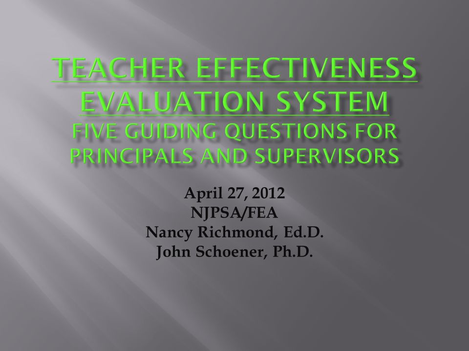 What do these changes mean to principals and supervisors in terms of their observation and feedback practices?