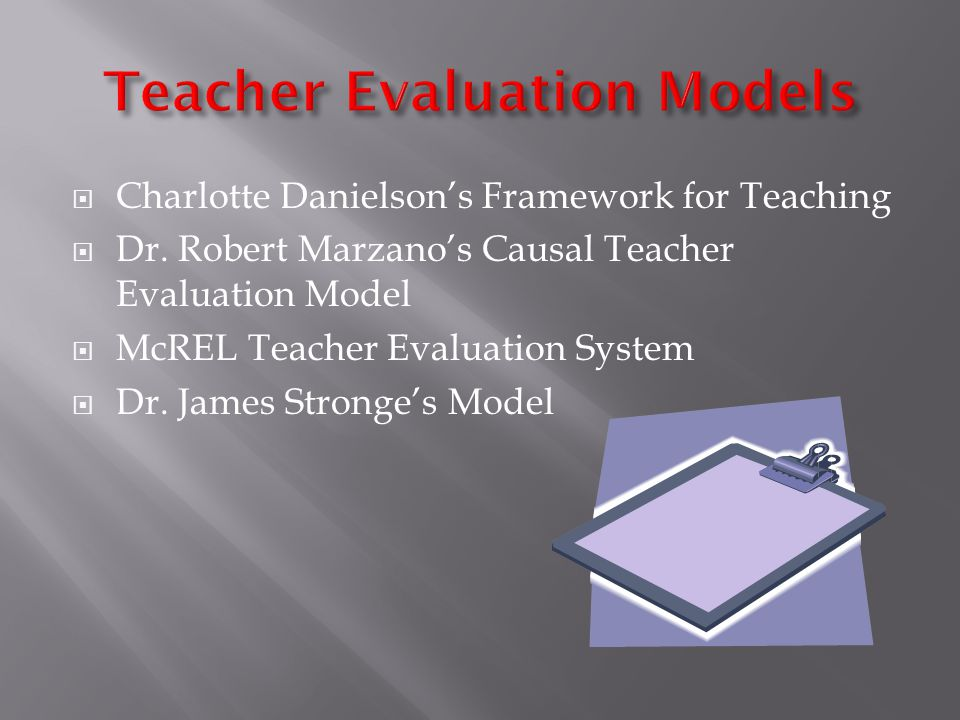  Charlotte Danielson's Framework for Teaching  Dr.