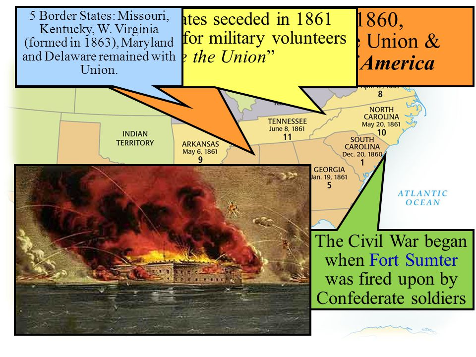 Conclusions: 1861-1863 Despite being outnumbered & under-equipped, the CSA dominated the fighting in the East from 1861-1863 due to better generals & a defensive strategy But, the Union Army was having success in the West under the leadership of Ulysses S Grant By mid-1863, the weight of the Northern population & industrial capacity will begin to turn the tide of the war in favor of the Union