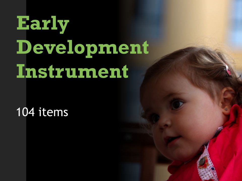 Early Development Instrument 104 items