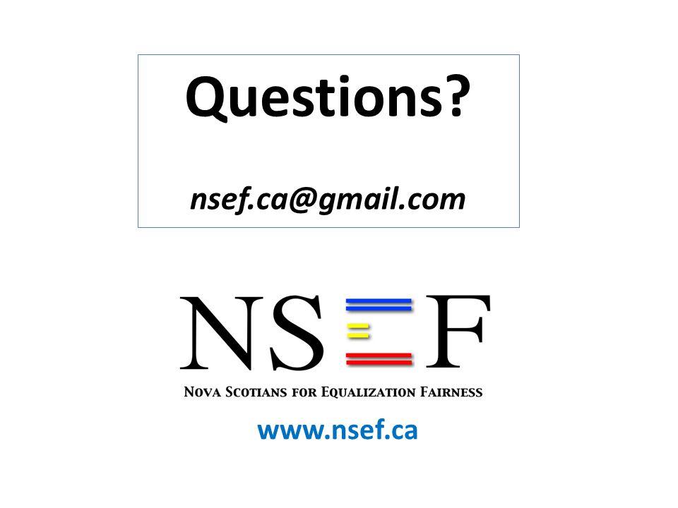 Questions nsef.ca@gmail.com www.nsef.ca