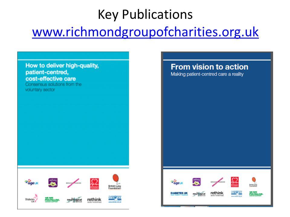 Key Publications www.richmondgroupofcharities.org.uk www.richmondgroupofcharities.org.uk