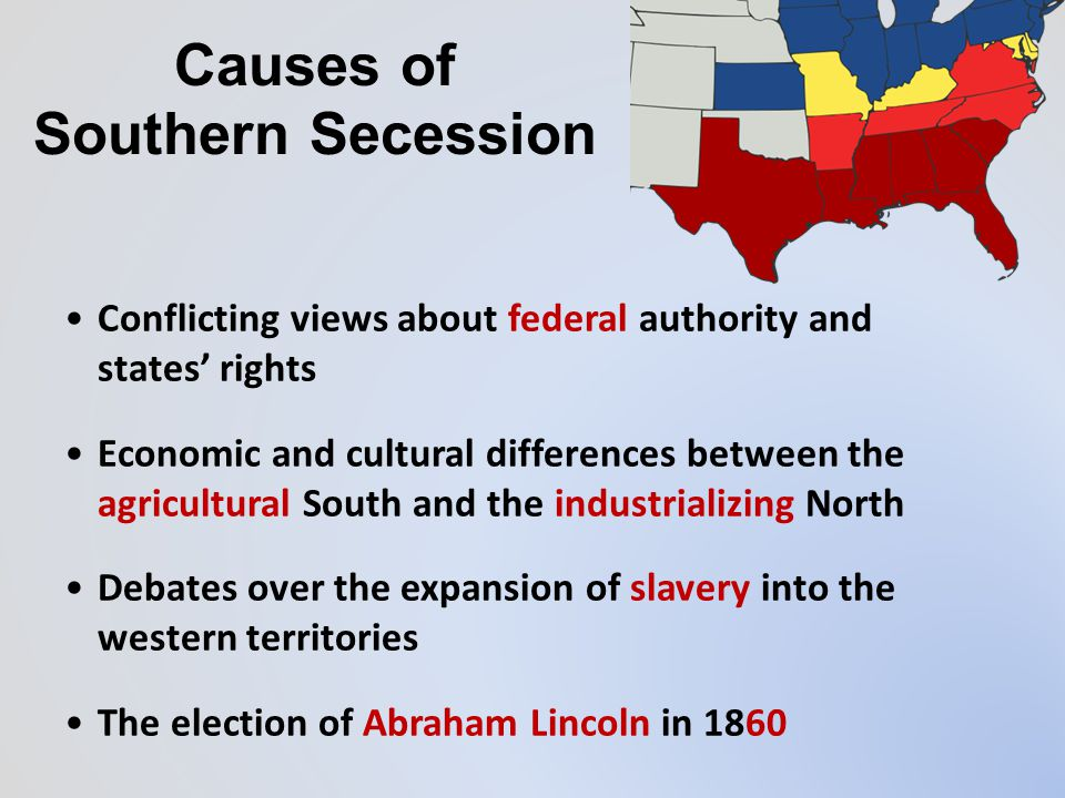 "Indian Territory (CSA) The ""Deep South"" seceded after Lincoln was elected. Secession The ""Upper South"" waited… DOCUMENT"