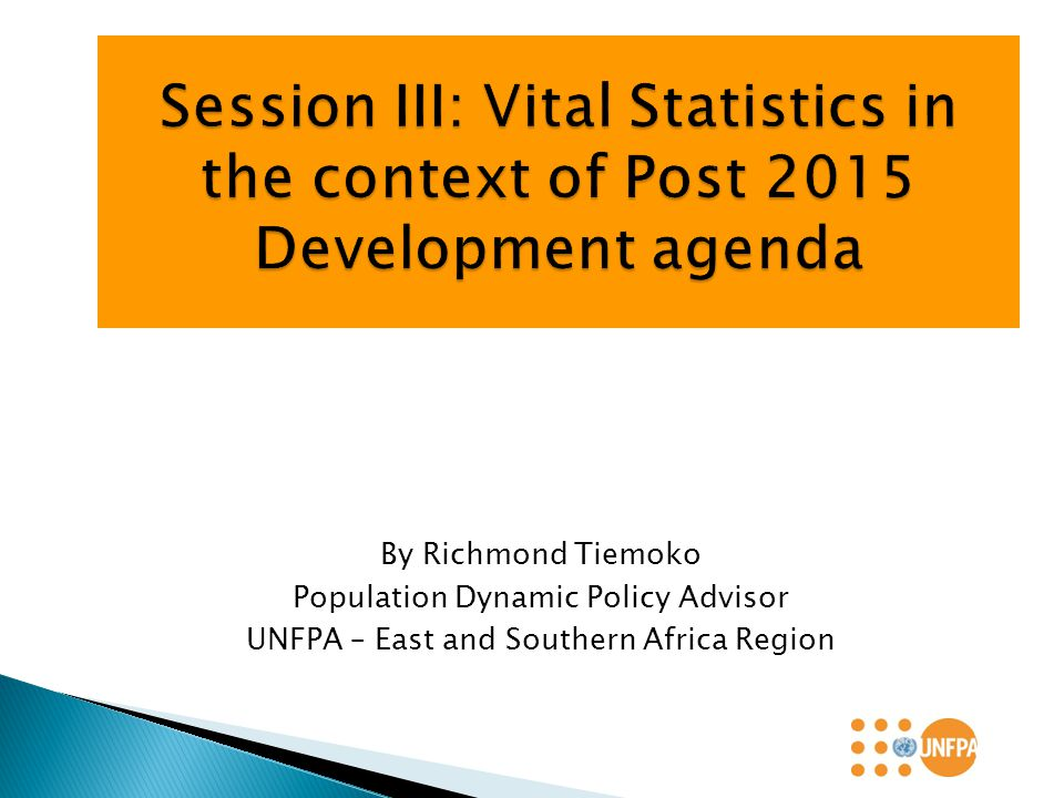 The outcome of the negotiations on post 2015 is expected to have different components i) Political Declaration; ii) Sustainable Development Goal (SDG) and Targets iii) Means of Implementation and new Global Partnership and; iv) Monitoring and Reporting framework for the Post 2015 Development Agenda.