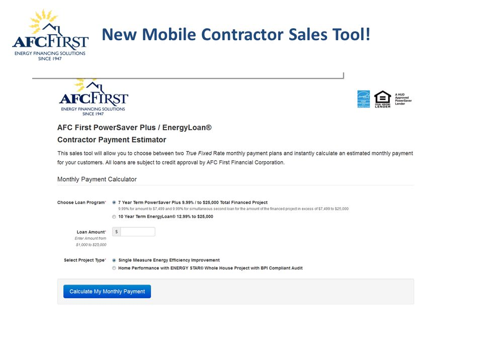 New Mobile Contractor Sales Tool!